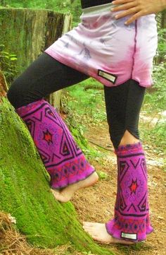 Upcycled Tribal Boot Covers/Legwarmers. $19.00, via Etsy.