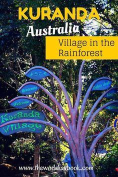 Walking through Kuranda, Australia: Village in the Rainforest | Cairns with kids…