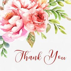 Thank You Quotes Discover Watercolor Roses Pink and Orange Flowers Clipart - Roses and Leaves Individual Elements Hand Painted - Commercial Use Thank You Greetings, Birthday Greetings, Birthday Wishes, Thank You Cards, Orange Wedding Flowers, Orange Flowers, Pink Roses, Thank You Images, Thank You Quotes