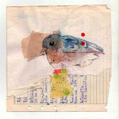 aquarelle + collage papier