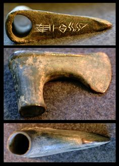 """An Old Akkadian Bronze Axe - c. 2340-2200.  