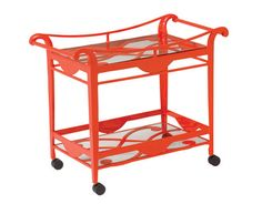 Bellechase Serving Cart  Yeah, $2K.  I'm thinking Ikea hack . . .because how cool would this be on a screened porch?
