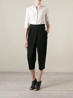 Chloé Draped Cropped Trousers - Vitkac - Farfetch.com