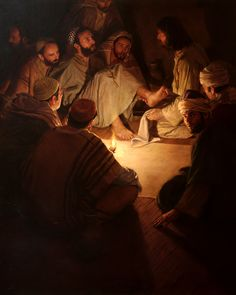 Jeff Hein's Portfolio - Painting- History/Scripture Christ Washing Apostle's Feet