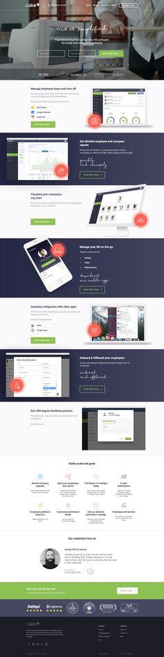 CakeHR Churn Rate, Ui Design, Design Ideas, Landing Page Design, Wordpress Theme, Templates, Inspirational, Top, Stencils