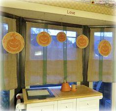 A Creative Princess: Bay Window Pumpkin Hoop Art