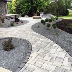 Backyard paver designs paver patio designs and ideas patios patio design . Design Patio, Backyard Patio Designs, Garden Design, Backyard Ideas, Diy Patio, Landscaping Tips, Front Yard Landscaping, Front Yard Walkway, Shade Landscaping