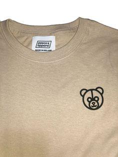 Peeco Apparel Latte Tee   Peeco Apparel Kanye Yeezy, Bear Logo, Virgil Abloh, Barista, Latte, Short Sleeves, Drop, Beige, Tees