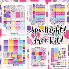 Free printable and custom planner stickers including free functional and decorative stickers as well as free kits and samplers! Planner Writing, To Do Planner, Free Planner, Happy Planner, Planner Ideas, Planner Diy, Planner Journal, Journal Notebook, Custom Planner