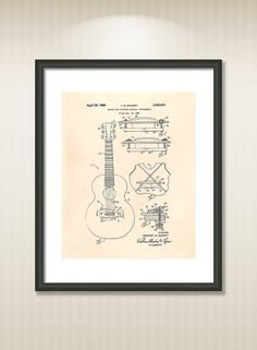 This reproduction was digitally restored and in some cases altered to remove defects or unwanted artifacts present in the original #patent document.  Buy more and save! Buy ... #patentart #art #print #gift #digital #download #instant #wall #printable #drawings #music
