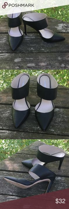 Express navy blue heels sz 9 EUC Express navy blue heels sz 9 EUC. Slight bruising on tip of point but not noticeable unless looking for it. Gently worn to dinner a few times. Express Shoes Heels