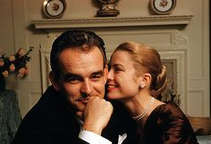 The loveliest photo I've ever seen of them: Prince Rainier  Grace Kelly.