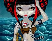 Pretty Pirate Polly tattoo fairy art print by Jasmine Becket-Griffith 8x10