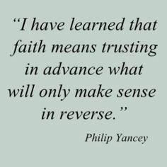 faith is sense in reverse