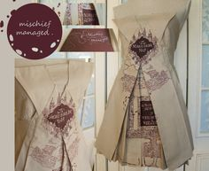 Marauder's Map Cosplay Couture Dress by SophieMayMakes on Etsy, £88.00 THIS IS AMAZING!!