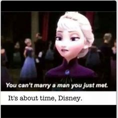 Another reason why Frozen is more awesome than other Disney films! ;)