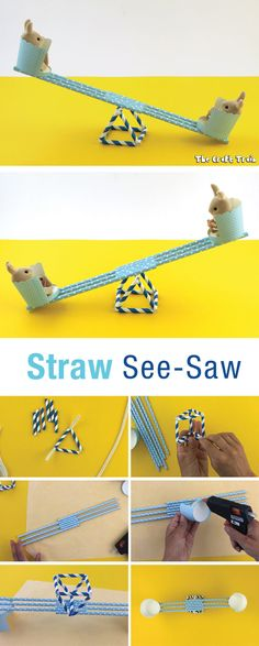 Straw See-saw