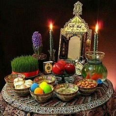 Nowruz (Noruz, Norooz, Nevruz, Newruz, Navruz), or New day, is the celebration of spring equinox. with its' uniquely Iranian characteristics has been celebrated for at least 3,000 years by the Zoroastrians.