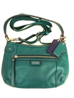 38% Off was $248.00, now is $155.00! Coach 23978 Daisy Leather Crossbody Jade Green