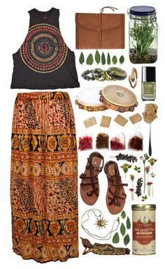 Flower Press by rissika-lestrange on Polyvore featuring moda, Urban Outfitters, Scotch & Soda, REMINISCENCE, Anne Klein, Alkemie, Chanel, Alöe, Zhena's Gypsy Tea and JenÃ