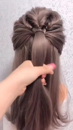 Hair Up Styles, Medium Hair Styles, Plait Styles, Hair Medium, Medium Brown, Bun Hairstyles For Long Hair, Straight Hairstyles, Office Hairstyles, School Hairstyles