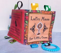 Latin Mass For Little Ones / Cloth Book / Soft Book / Baby Toy / Crinkle Book / Catholic Toy / Catholic Book / Old Mass on Etsy, $18.99