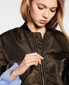 Cool Bomber Jackets, Sporty Outfits, Second Skin, Outerwear Women, Jackets For Women, Zara, Womens Fashion, Image, Collection