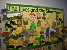 The Elves and the Shoemaker Display, classroom display, class display, Story, elves, shoemaker, shoes, make, Early Years (EYFS), KS1& KS2 Primary Resources