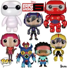 Big Hero 6 Pop! Vinyl Figures