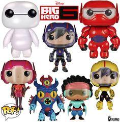 Bonecos Funko Pop! Big Hero 6 – Os Novos Heróis!