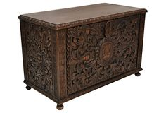 Spanish Carved Fall-Front  Chest on OneKingsLane.com