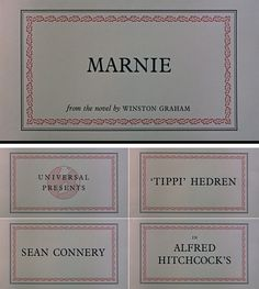 Alfred Hitchcock's Marnie's Movie titles, in the style of the Gallimard press - ©The Movie Title Stills Collection