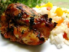 Thai Grilled Chicken Thighs...made this 2 nights ago. Huge hit with the fam. I used crushed red pepper instead of minced chili. Excellent!
