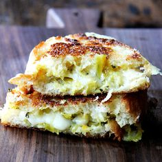 smoked gouda and curried-apple chutney grilled cheese