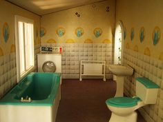 Vintage Caroline's Home dolls house bathroom | Flickr - Photo Sharing!