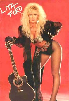 Back in the 80's we'd put posters of Lita up so that our walls weren't total sausage fests. Couldn't name a single post Runaways song from her though.