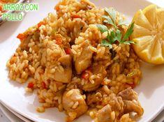 arroz con pollo, riquísimo y fácil Fried Rice, Fries, Good Food, Food And Drink, Ethnic Recipes, Kitchen, Rice Recipes, Chicken Rice Recipes, Delicious Food