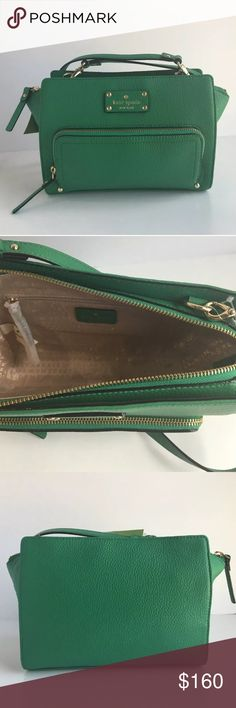 """Kate Spade Sevilla Baxter Street Crossbody Purse Brand new with tags!  Details: • Soft Pebbled Leather • Signature Logo Leather Patch on the Front • Light Gold Plated Hardware • Zip Top Closure • Front Zip Pocket  • Interior Zip Pocket • One Interior Slip Pocket • Signature Sew Be it Fabric Lining • Detachable Leather Strap with 22"""" Drop for Shoulder or Crossbody Style  Product Dimensions: 9""""W x 7""""H x 2""""D kate spade Bags Crossbody Bags"""