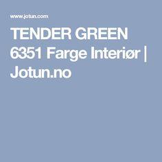 TENDER GREEN 6351 Farge Interiør | Jotun.no