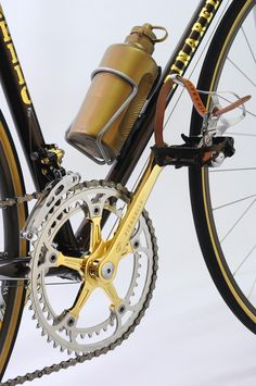 9495e06dbeb Pinarello Gold from Vintage Luxury Bicycles, Campagnolo group is gold plated,  Very rare NOS tubular Clement Pistard and luxury stopwatch Euer