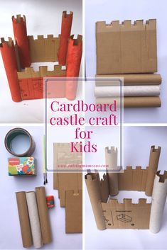 cardboard crafts kids easy Cardboard castle crafts are a quick and easy way to keep the kids entertained during the holidays Kids Crafts, Cardboard Crafts Kids, Cardboard City, Cardboard Castle, Cardboard Toys, Toilet Paper Roll Crafts, Toddler Crafts, Projects For Kids, Diy For Kids