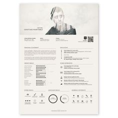 Double Exposure Minimalist Resume Example /// Check out this in Creative Resume Examples, Templates & Ideas. Or search for Creative Resumes on the Venngage Gallery! Portfolio Design, Mise En Page Portfolio, Portfolio Resume, Template Cv, Modern Resume Template, Creative Resume Templates, Cv Online, Online Resume, Graphic Design Resume