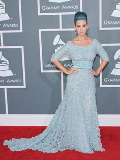 Katy Perry in an Elie Saab gown at the 54th Annual Grammy Awards in 2012