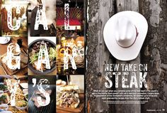 """Nominated in Art Direction for a Single Magazine Article. """" #Calgary's New Take On #Steak"""" by Sandy Kim published in #Chatelaine."""