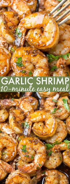 I love this simple, quick and easy Garlic Butter Sauteed Shrimp recipe. This pan… I love this simple, quick and easy Garlic Butter Sauteed Shrimp recipe. This pan-fried shrimp is tossed with an easy Italian seasoning sautéed in butter and lemon. Shrimp Recipes For Dinner, Shrimp Recipes Easy, Seafood Dinner, Seafood Recipes, Chicken Recipes, Cooking Recipes, Healthy Recipes, Italian Shrimp Recipes, Lemon Recipes