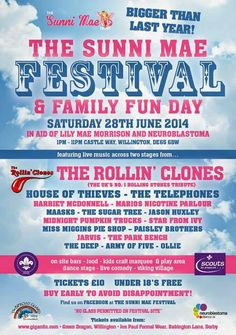 #TheSunniMaeFestival 2014   Buy tickets online at www.clickit4tickets.co.uk/music