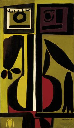 'Janus and the White Vertebra' (1955) by Will Barnet