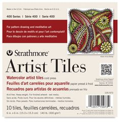 Strathmore 400 Series Watercolor Cold Press, Glue Bound Top Artist Tiles, 6 X 6 Watercolor Journal, Watercolor Artists, Watercolor Cards, Coloring Brush Pen, Technical Pen, Drawing Letters, How To Clean Makeup Brushes, Paper Artist, Watercolor Texture