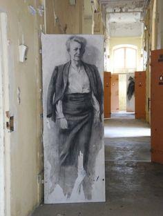 Prison St Paul 053 ernest pignon ernest 3d Street Art, Street Artists, Render Art, Figure Painting, Figure Drawing, White Art, Black And White, Art Du Croquis, Graffiti
