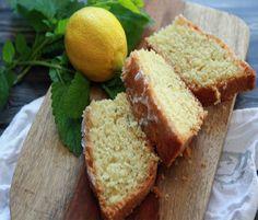Lemon Verbena Drizzle Cake: buttery cake full of lemon zest and chopped, lemon verbena.